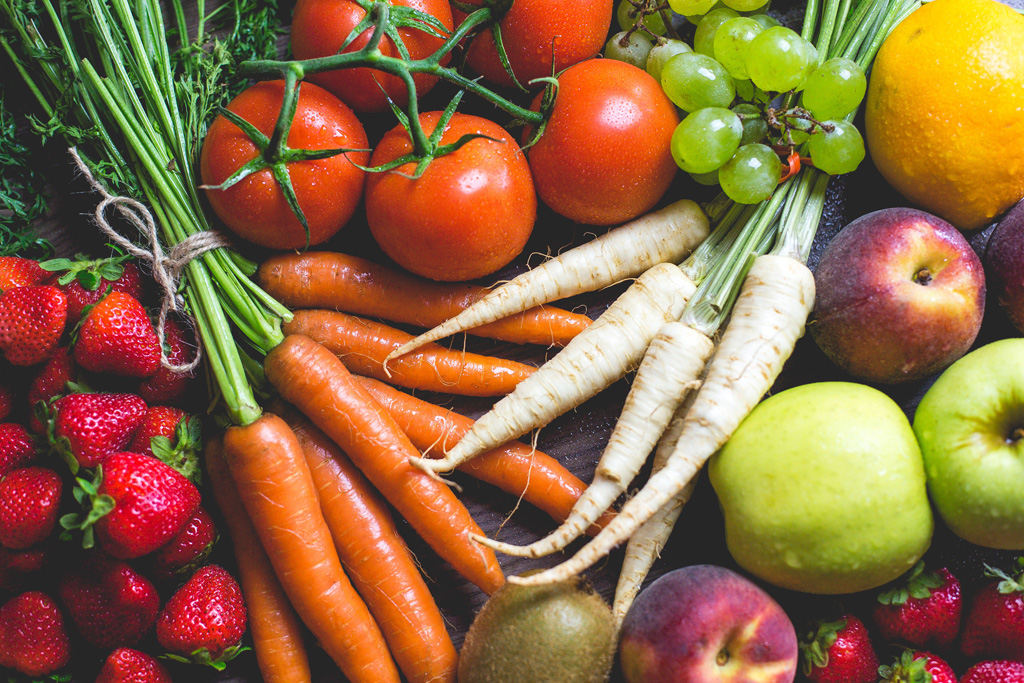野菜多めの洋食